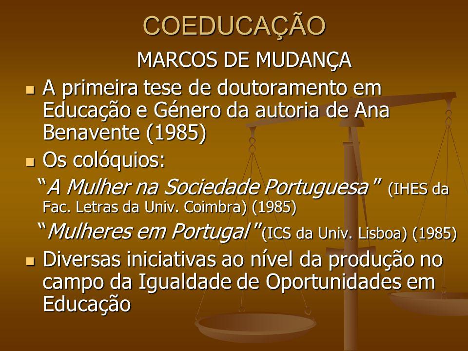 COEDUCAÇÃO MARCOS DE MUDANÇA