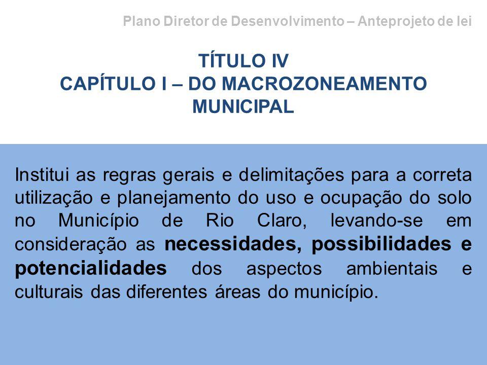 CAPÍTULO I – DO MACROZONEAMENTO MUNICIPAL