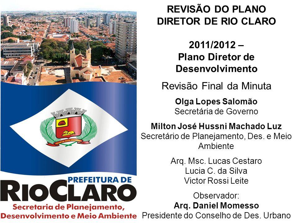 Plano Diretor de Desenvolvimento Milton José Hussni Machado Luz