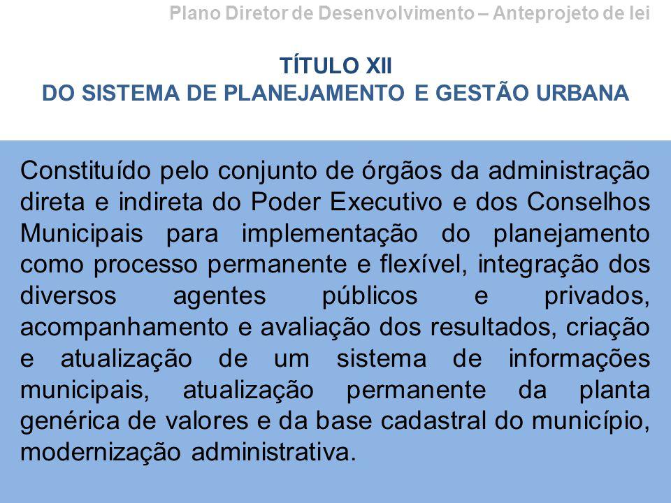 DO SISTEMA DE PLANEJAMENTO E GESTÃO URBANA