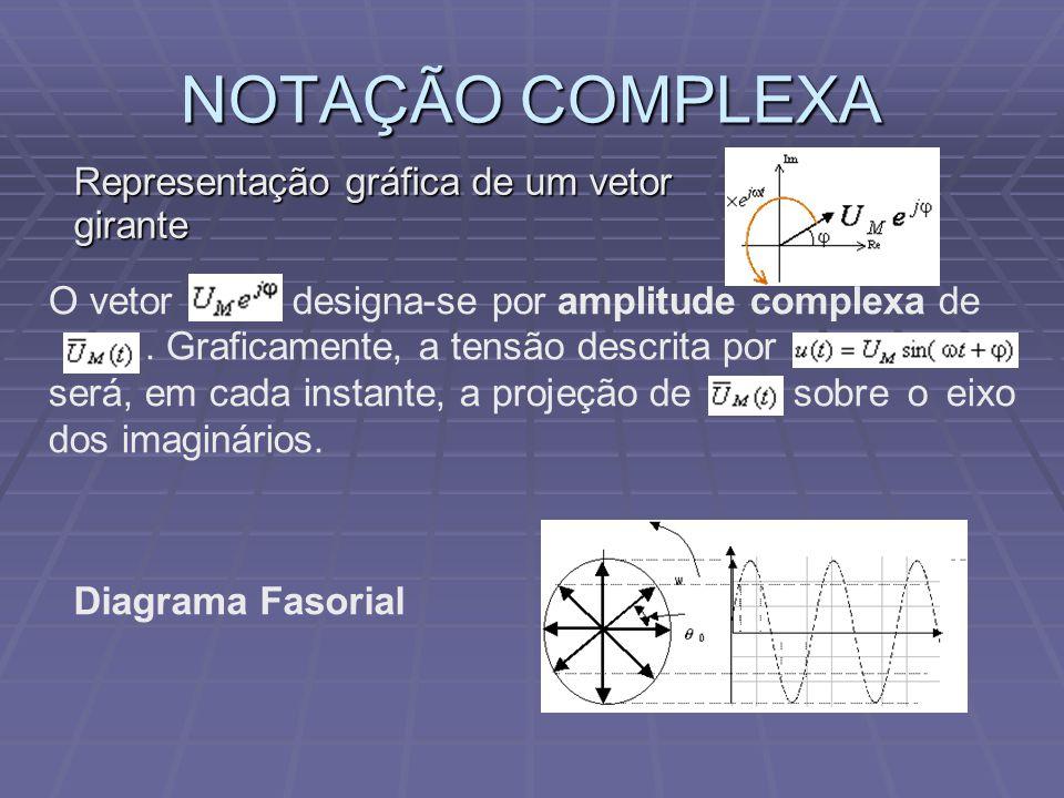 NOTAÇÃO COMPLEXA Representação gráfica de um vetor girante