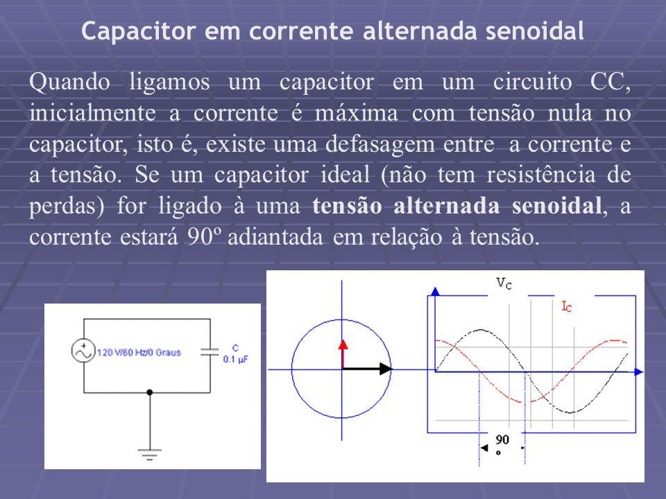 Capacitor em corrente alternada senoidal
