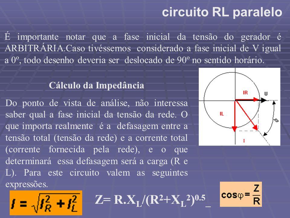 circuito RL paralelo Z= R.XL/(R2+XL2)0.5