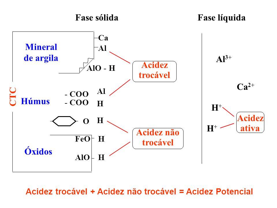 Acidez trocável + Acidez não trocável = Acidez Potencial