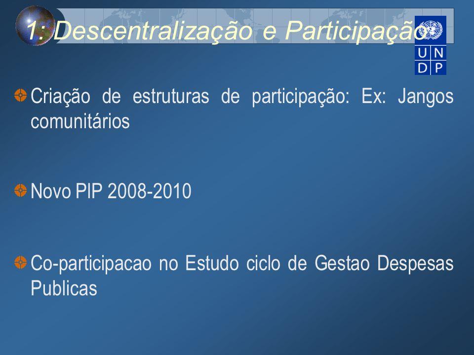 1: Descentralização e Participação