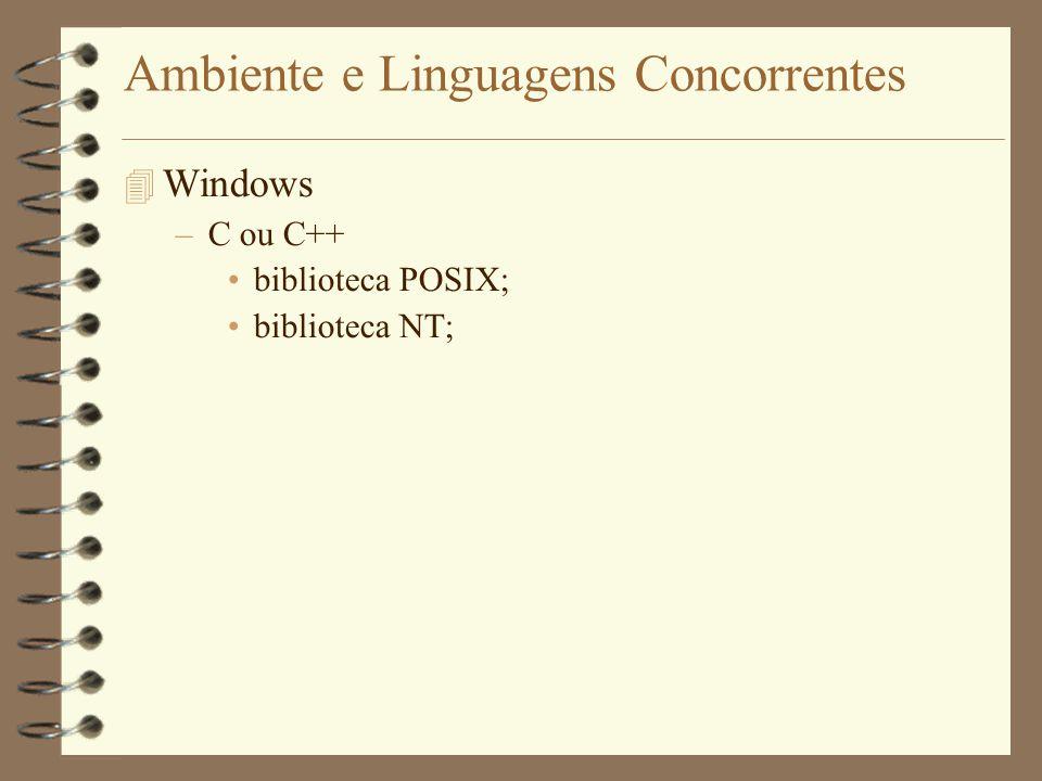 Ambiente e Linguagens Concorrentes