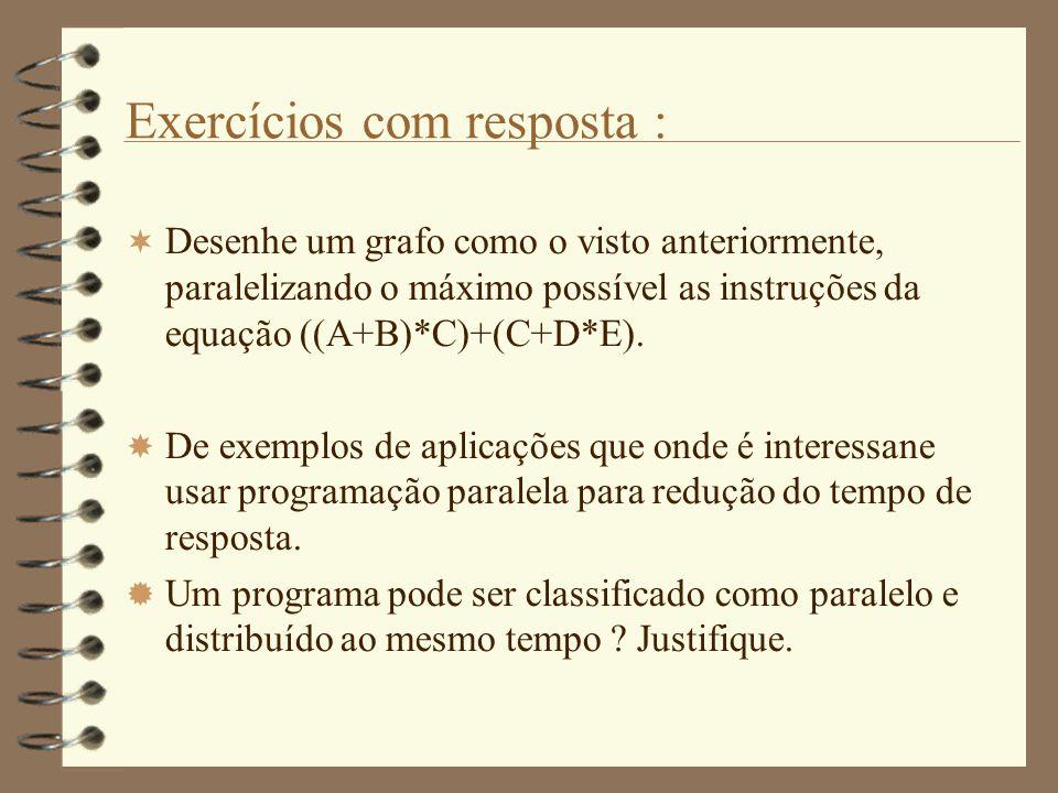 Exercícios com resposta :