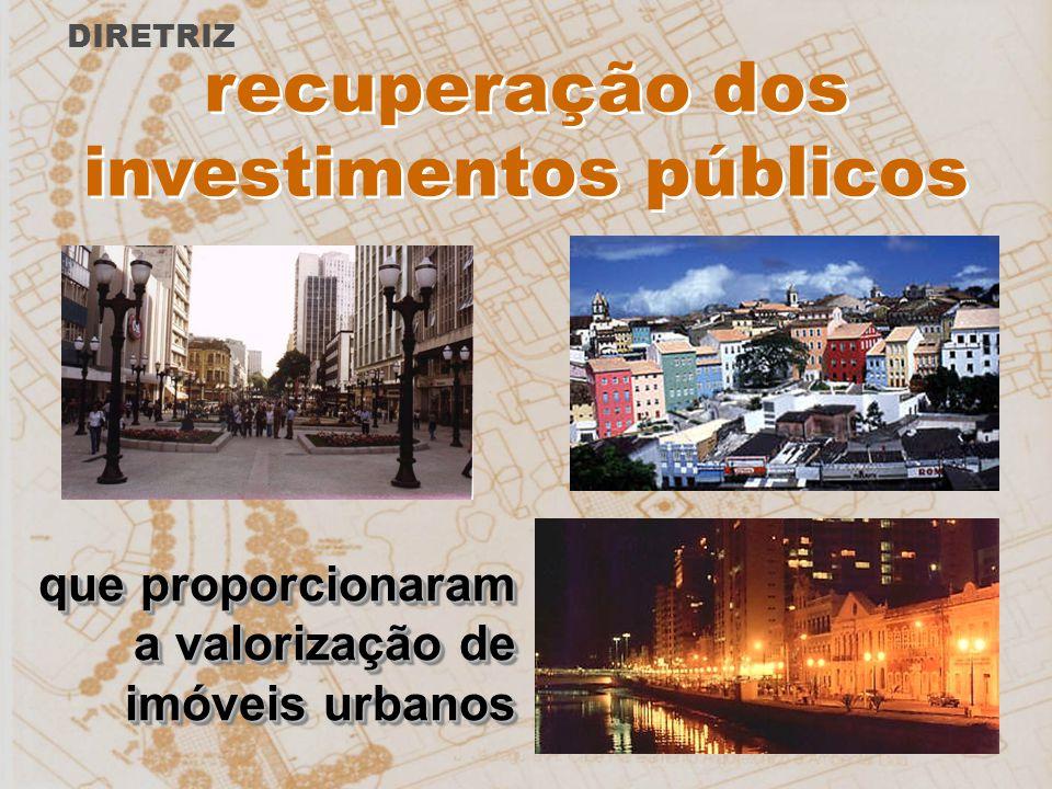 recuperação dos investimentos públicos