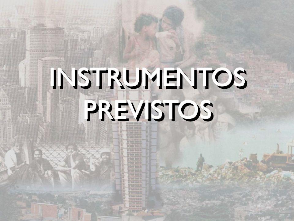 INSTRUMENTOS PREVISTOS