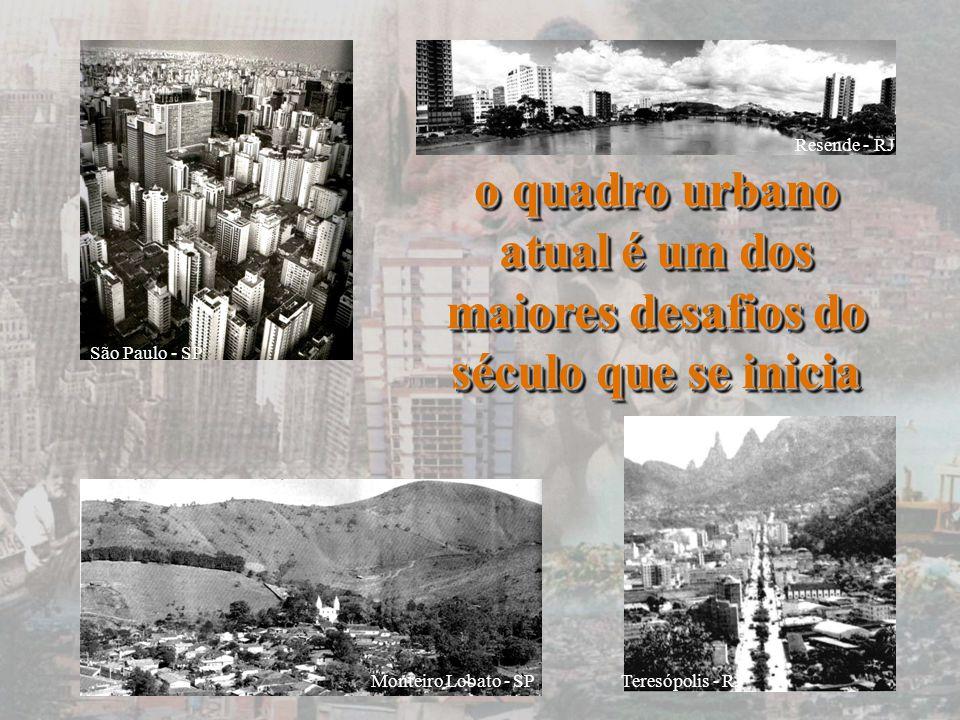 São Paulo - SP Resende - RJ. o quadro urbano atual é um dos maiores desafios do século que se inicia.