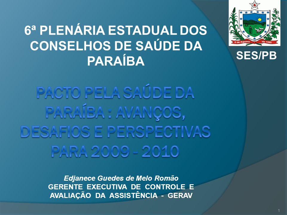 6ª PLENÁRIA ESTADUAL DOS CONSELHOS DE SAÚDE DA PARAÍBA