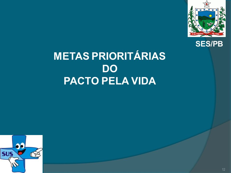 METAS PRIORITÁRIAS DO PACTO PELA VIDA