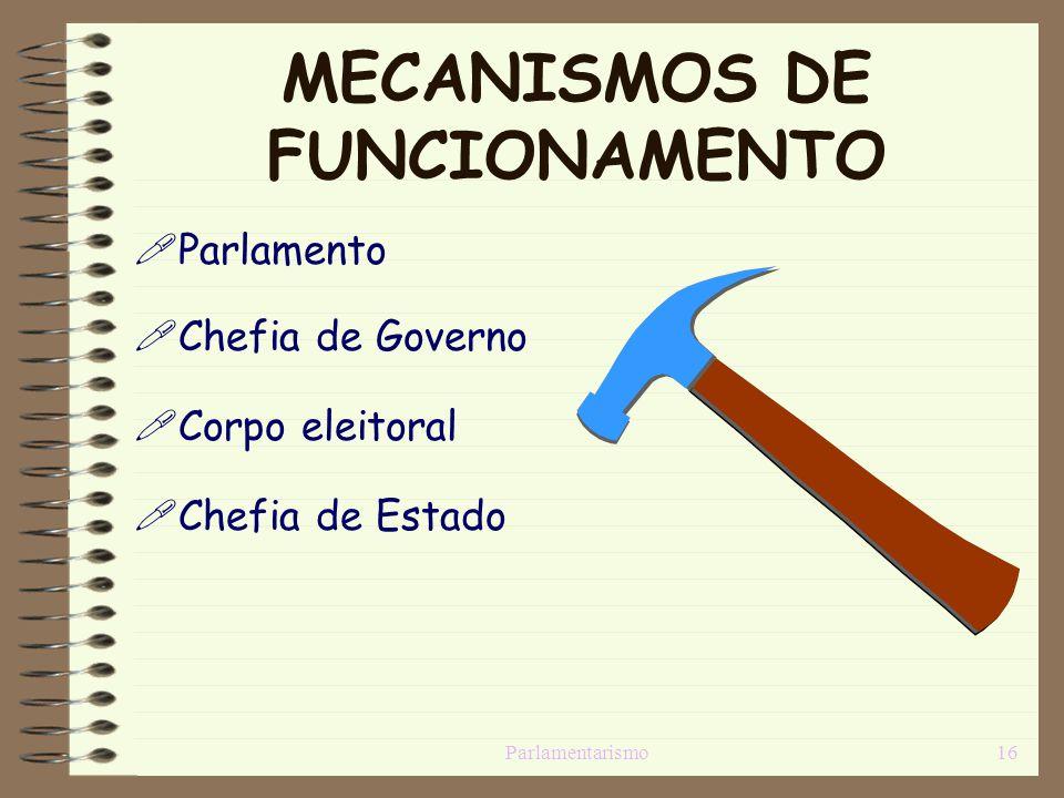 MECANISMOS DE FUNCIONAMENTO