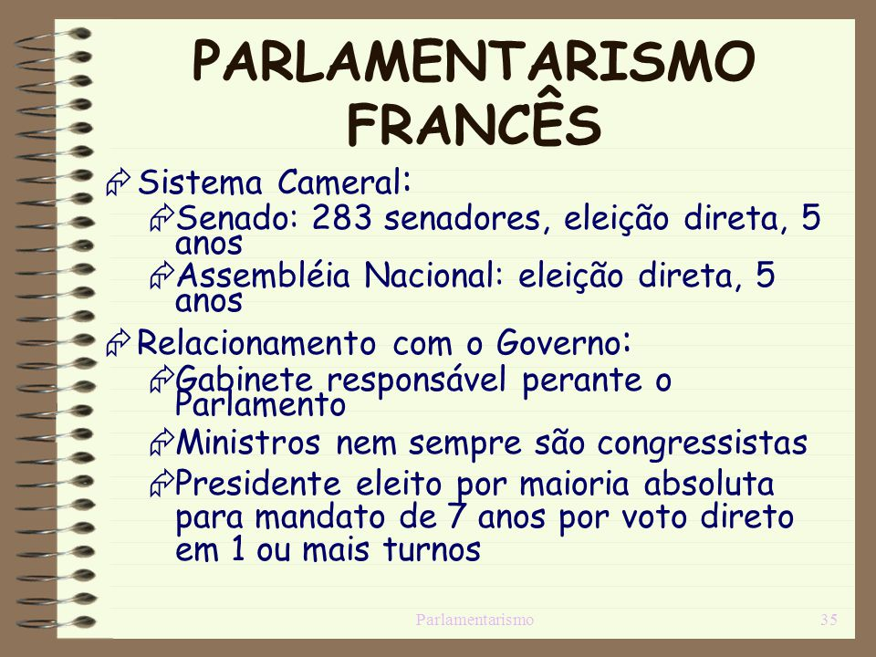 PARLAMENTARISMO FRANCÊS