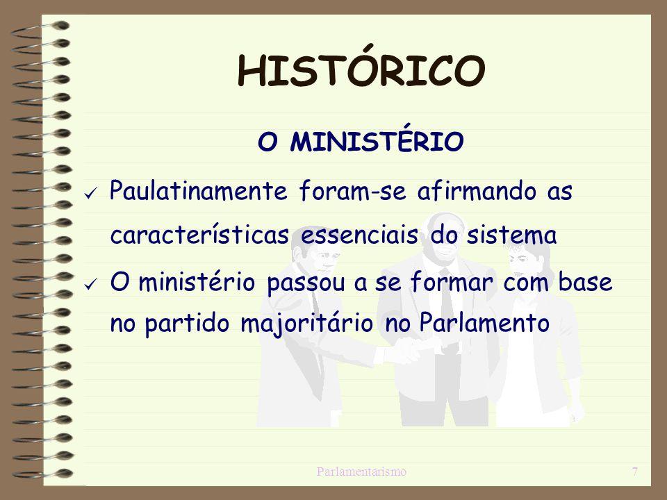 HISTÓRICO O MINISTÉRIO