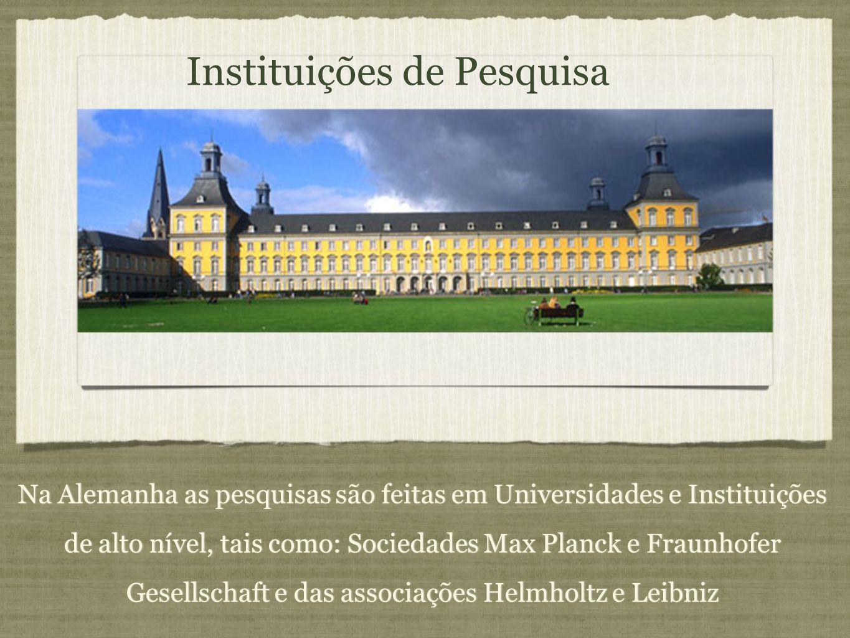 Instituições de Pesquisa