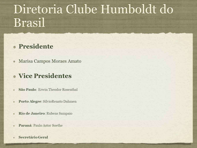 Diretoria Clube Humboldt do Brasil