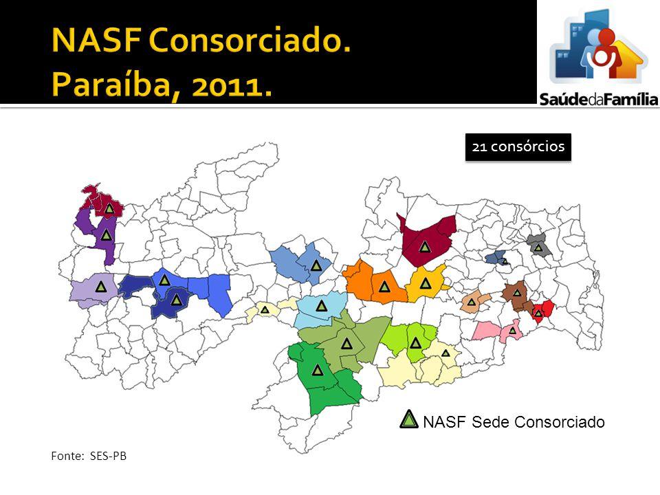NASF Consorciado. Paraíba, 2011.