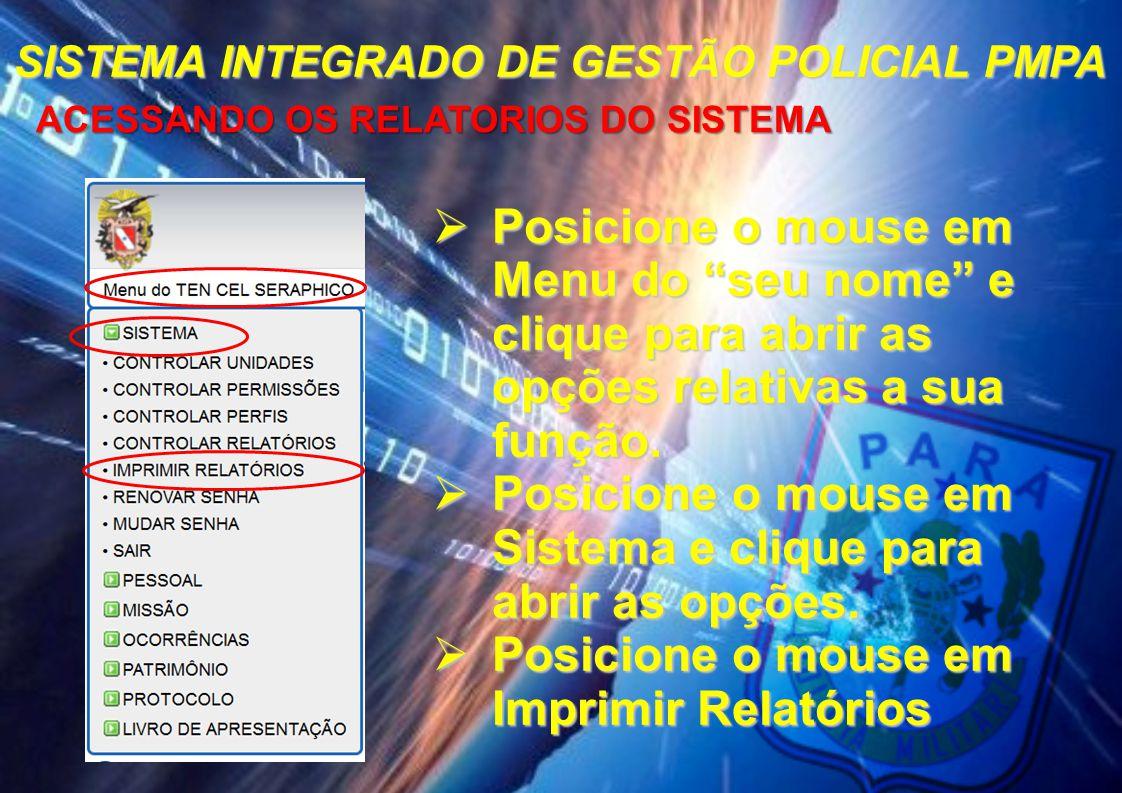 SISTEMA INTEGRADO DE GESTÃO POLICIAL PMPA