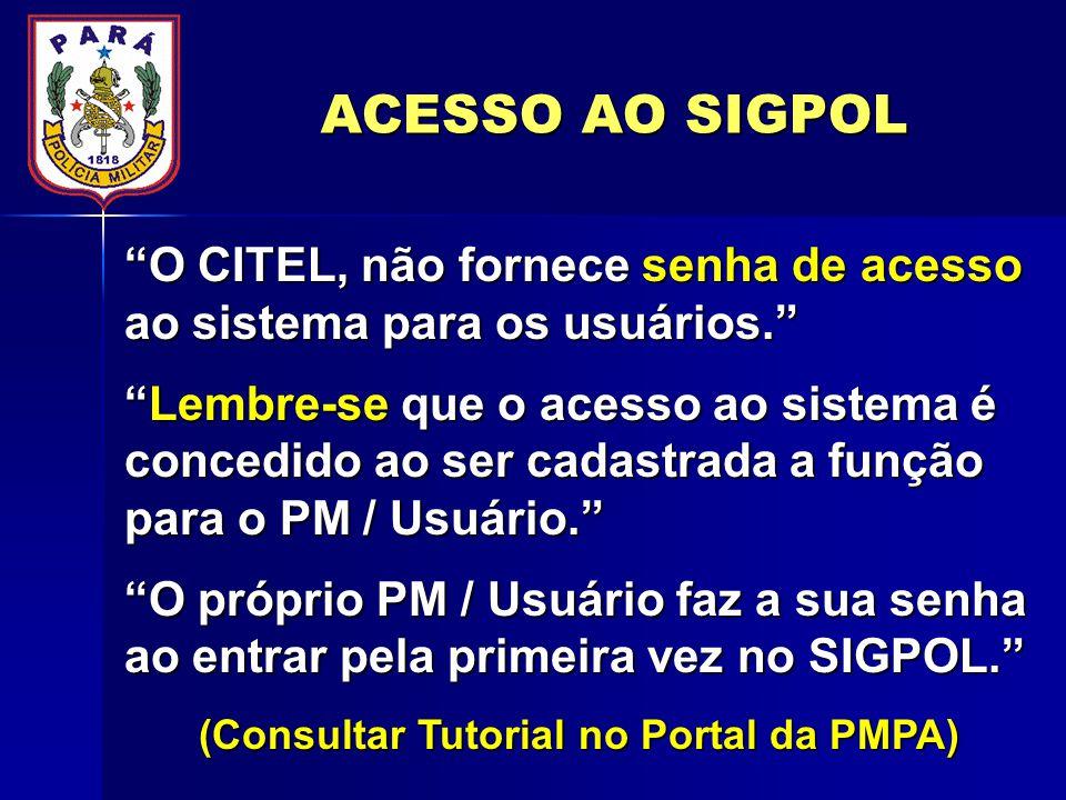 (Consultar Tutorial no Portal da PMPA)
