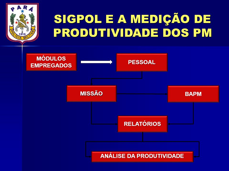 SIGPOL E A MEDIÇÃO DE PRODUTIVIDADE DOS PM ANÁLISE DA PRODUTIVIDADE