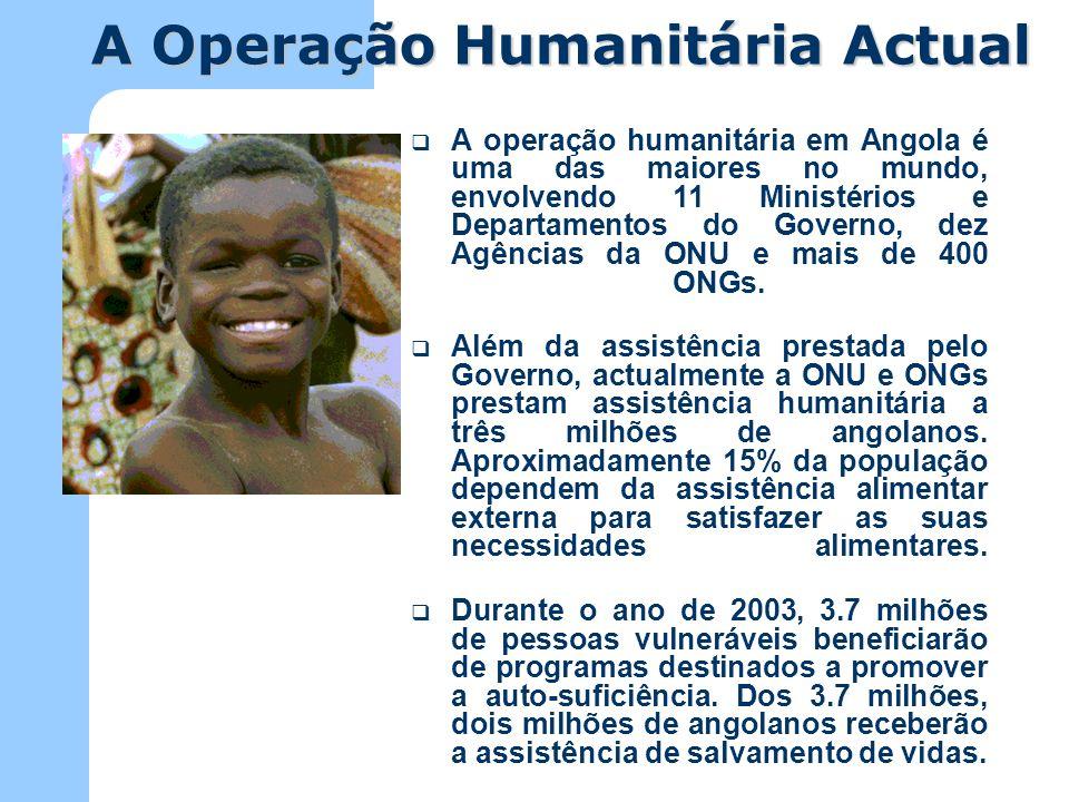 A Operação Humanitária Actual