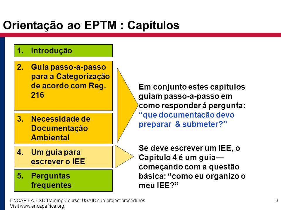 Orientação ao EPTM : Capítulos
