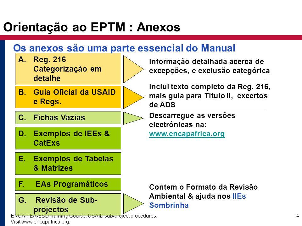 Orientação ao EPTM : Anexos