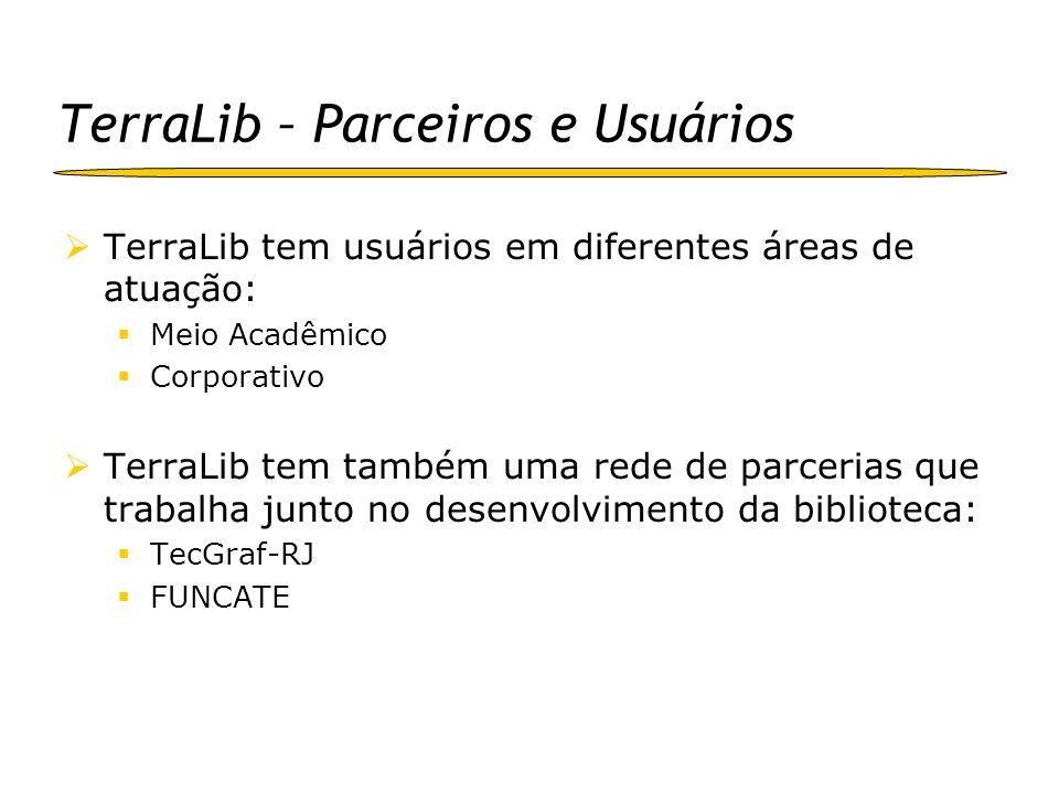 TerraLib – Parceiros e Usuários