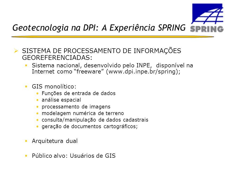 Geotecnologia na DPI: A Experiência SPRING
