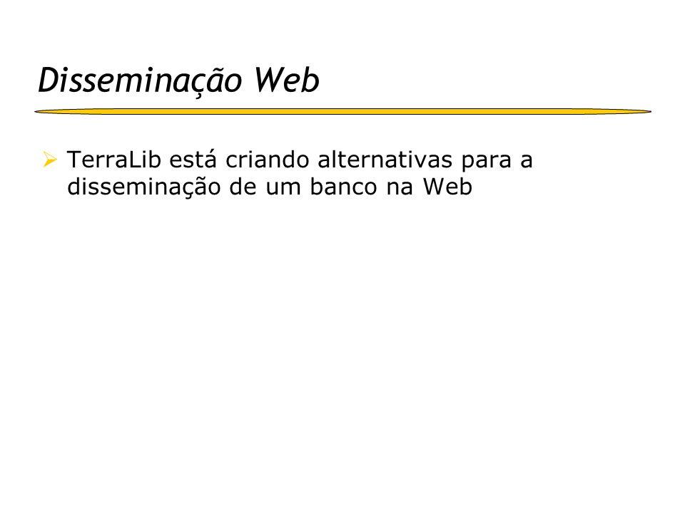 Disseminação Web TerraLib está criando alternativas para a disseminação de um banco na Web