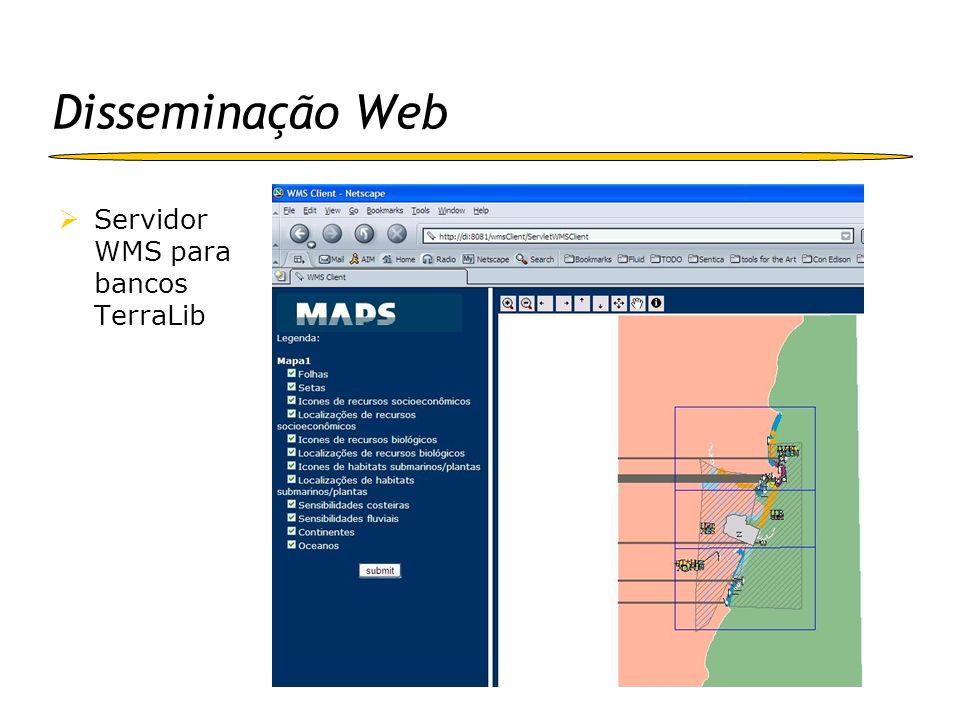 Disseminação Web Servidor WMS para bancos TerraLib