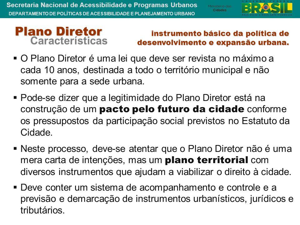 Plano Diretor Características