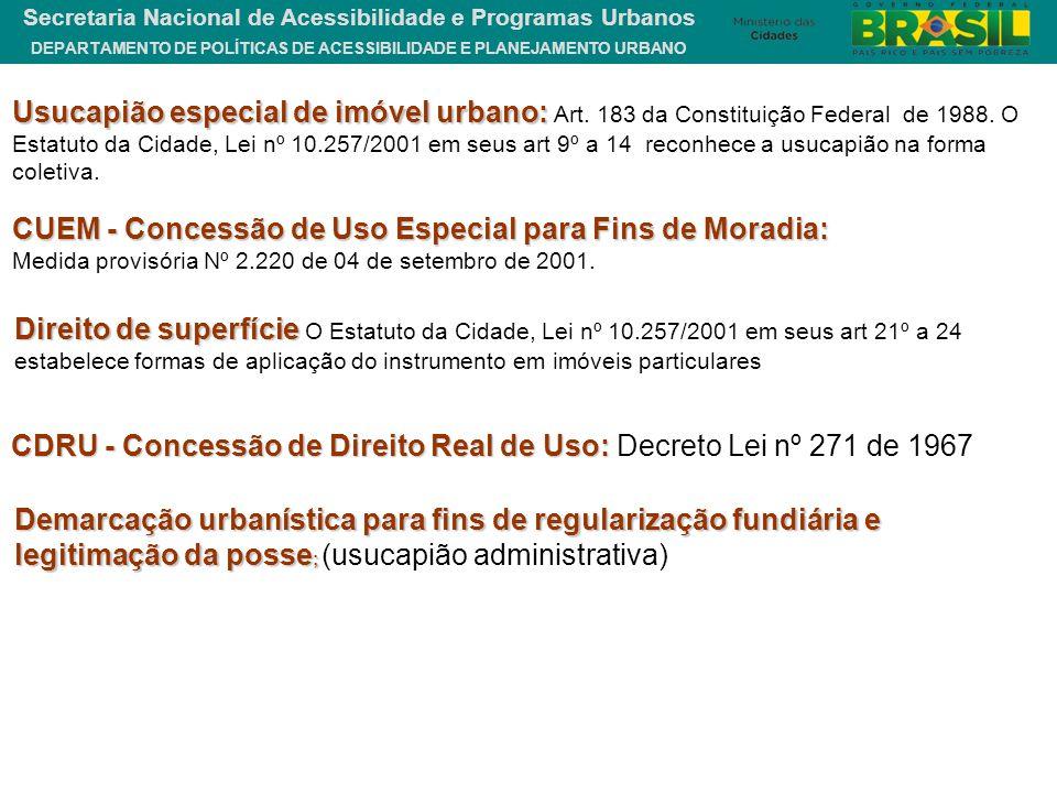 CUEM - Concessão de Uso Especial para Fins de Moradia: