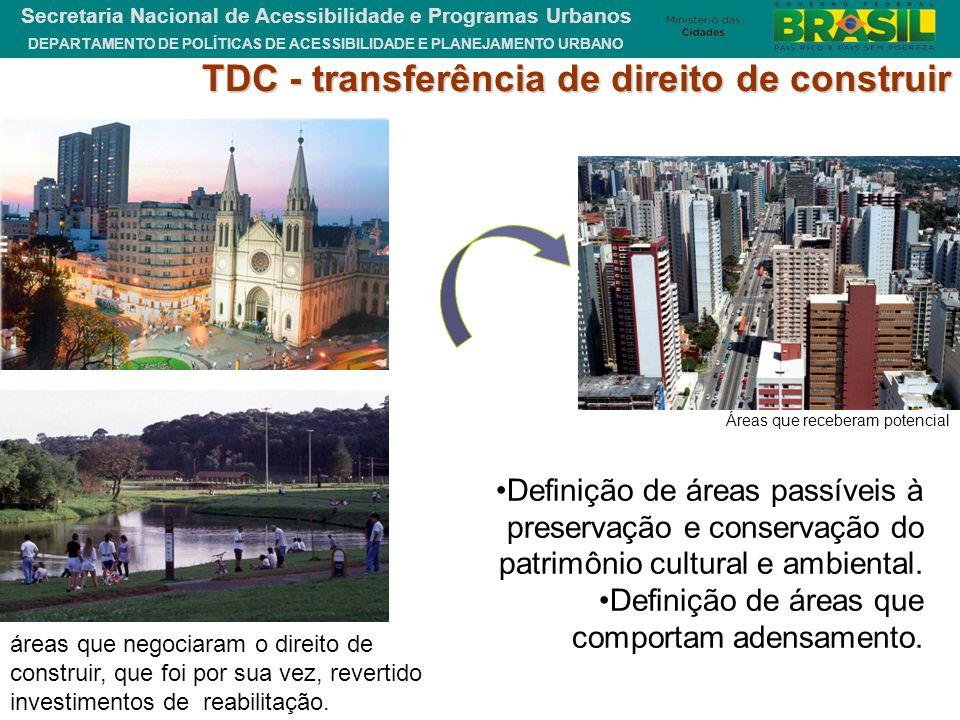 TDC - transferência de direito de construir