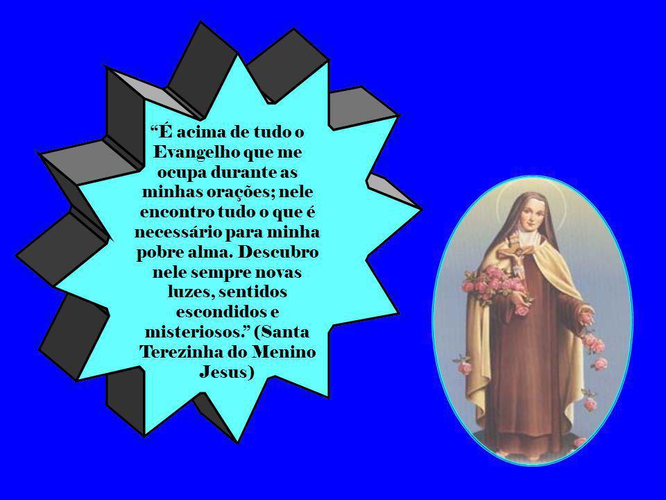 É acima de tudo o Evangelho que me ocupa durante as minhas orações; nele encontro tudo o que é necessário para minha pobre alma.