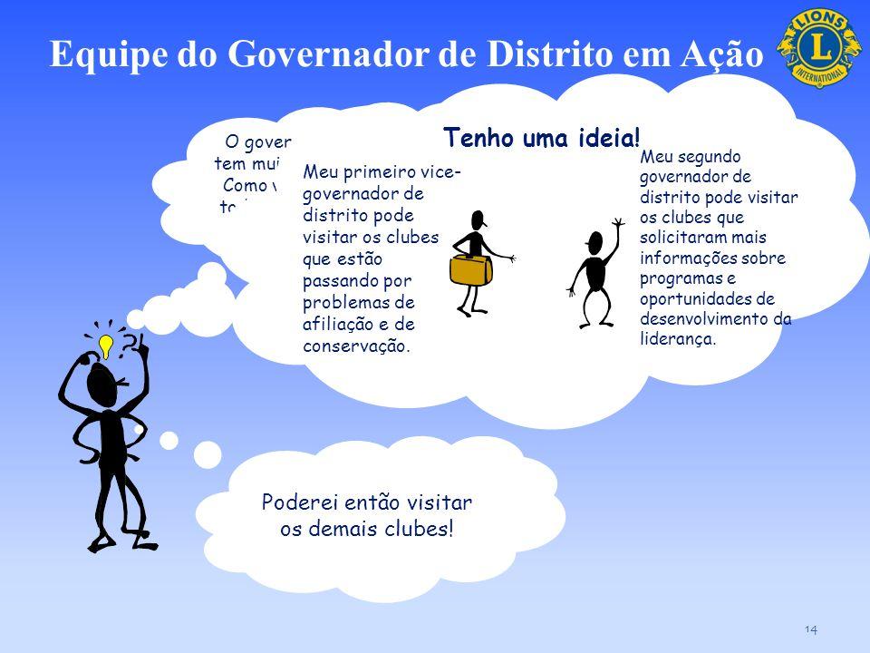 Equipe do Governador de Distrito em Ação