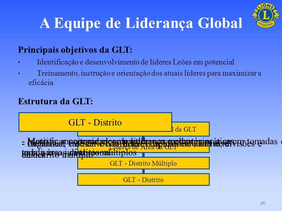 A Equipe de Liderança Global