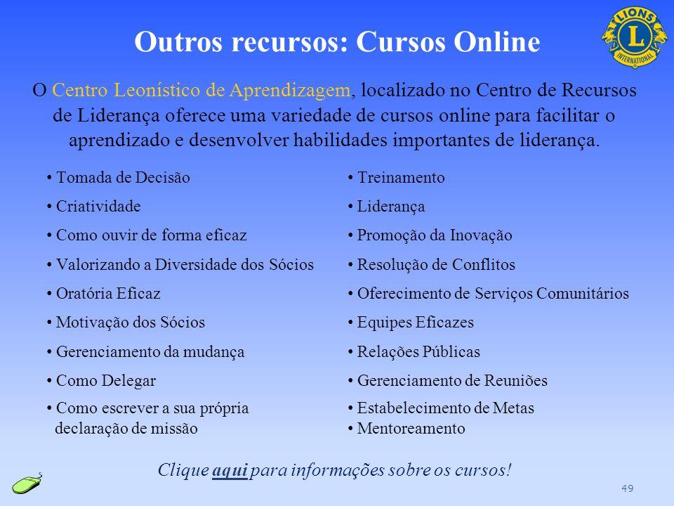 Outros recursos: Cursos Online