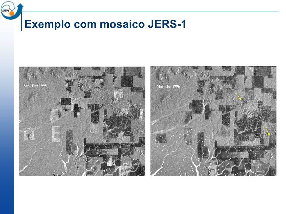 Exemplo com mosaico JERS-1