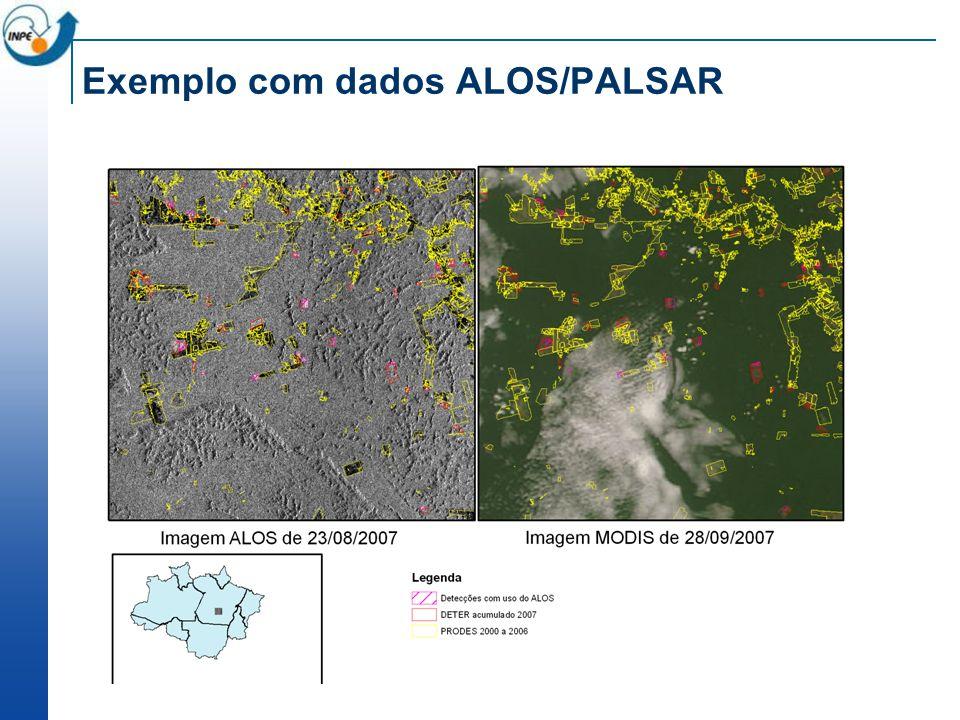 Exemplo com dados ALOS/PALSAR