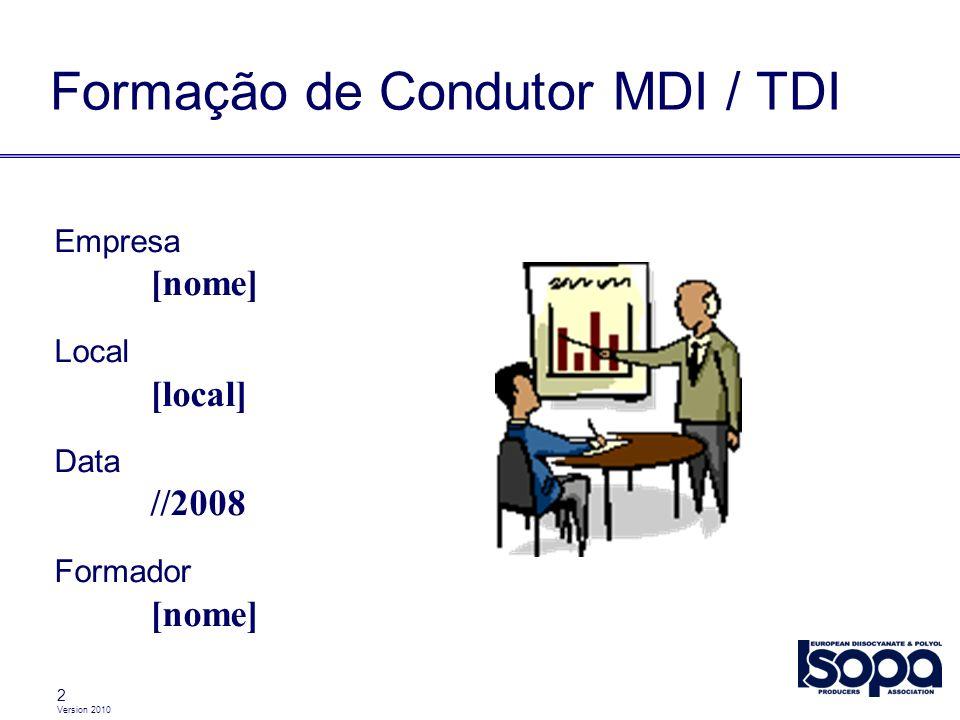 Formação de Condutor MDI / TDI