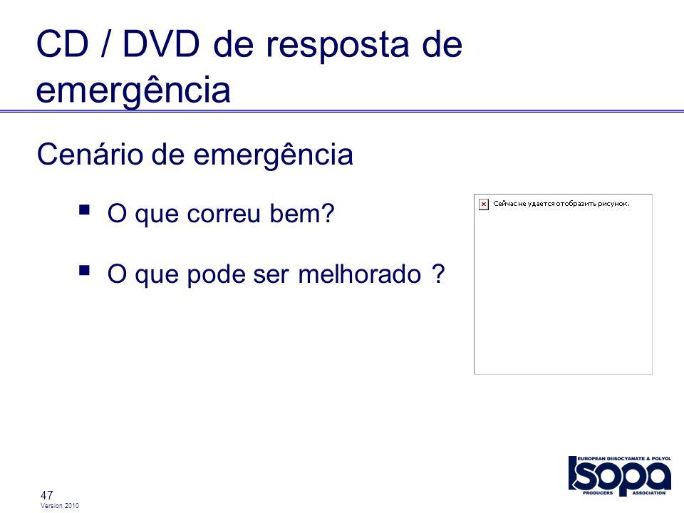 CD / DVD de resposta de emergência