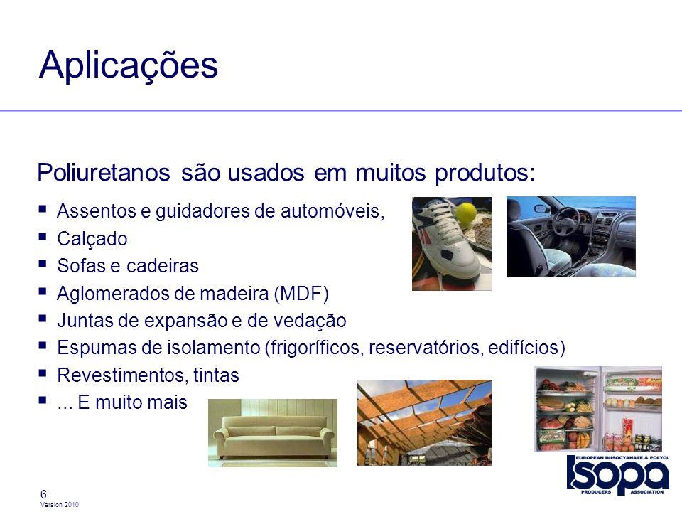 Aplicações Poliuretanos são usados em muitos produtos: