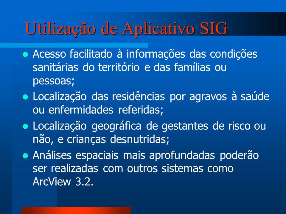 Utilização de Aplicativo SIG