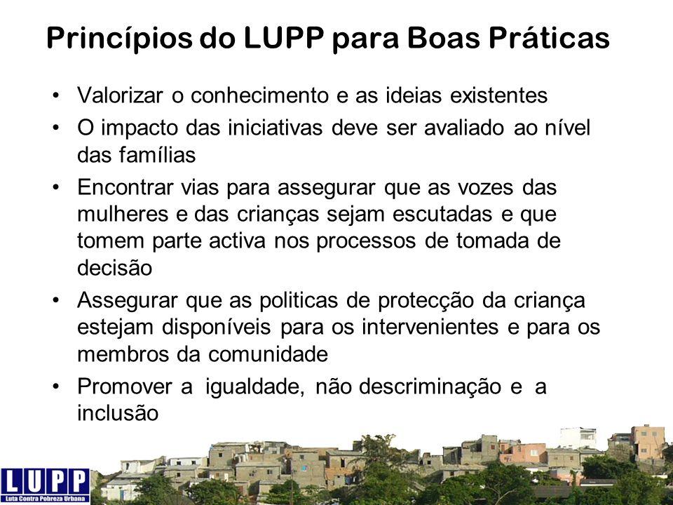 Princípios do LUPP para Boas Práticas