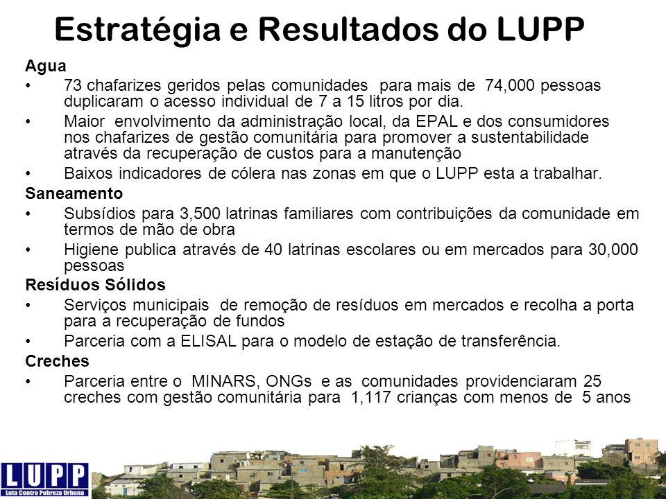 Estratégia e Resultados do LUPP