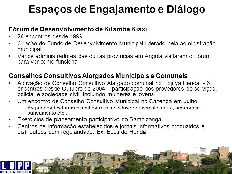 Espaços de Engajamento e Diálogo