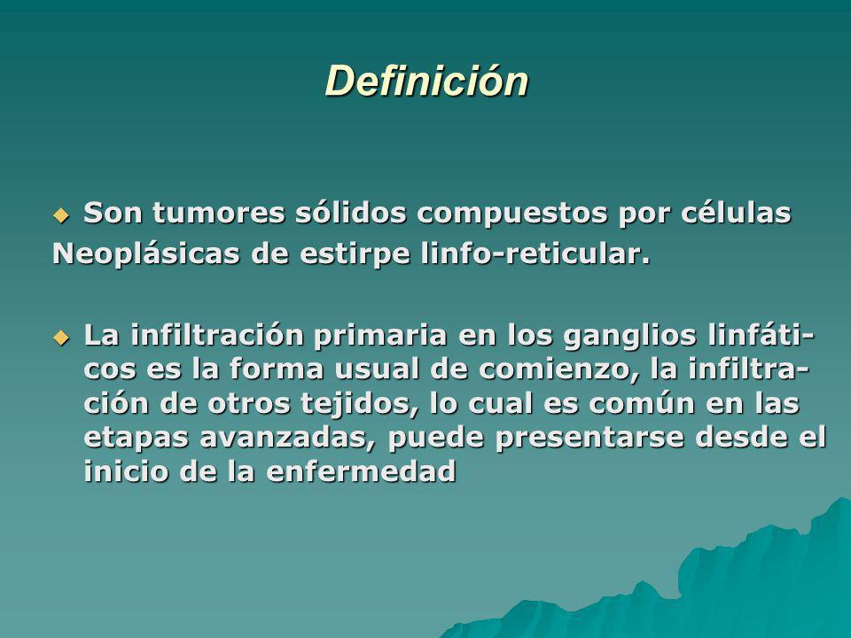 Definición Son tumores sólidos compuestos por células