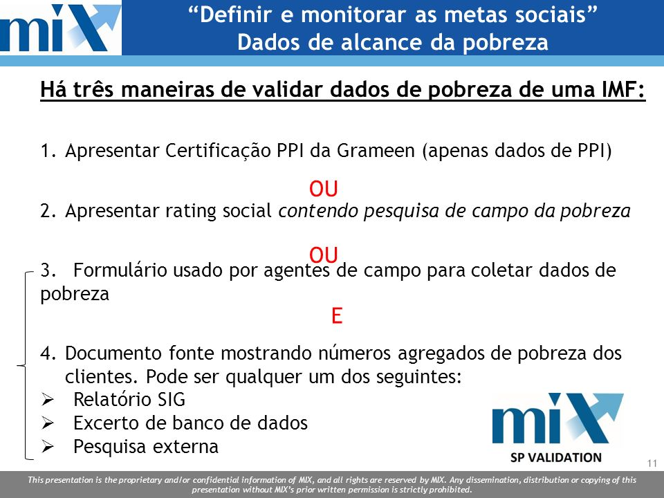 Definir e monitorar as metas sociais Dados de alcance da pobreza